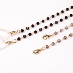 M.crystal chain _ 2color (Black/Grey) 마스크 스트랩