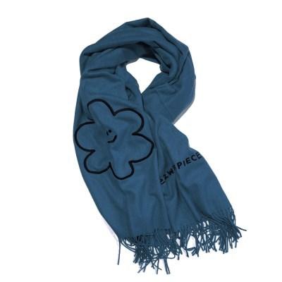 [EZwithPIECE] DAISY BLEND MUFFLER (DUSTY BLUE)_(401213473)