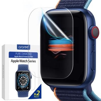 애플워치 6 5 4 3 SE 세대 액정보호필름 44 40 mm 2매