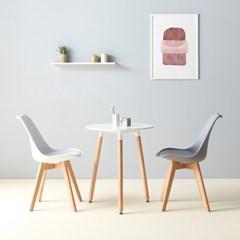 가구데코 포니 카페 원형 테이블+의자 2개 WD2003