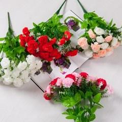 리치카네이션부쉬 43cm 조화 성묘 인테리어 꽃 FAGAFT