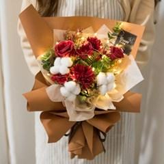 LED오트리엔틱꽃다발 43cmP 조화 꽃다발 선물 FMBBFT