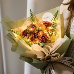 LED크라시엔틱꽃다발 45cmP 조화 꽃다발 선물 FMBBFT
