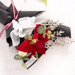 포인세티아한송이꽃다발 35cmP 조화 꽃다발 FMBBFT