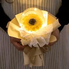 LED한송이해바라기벌룬비누꽃다발 26cmP 조화 FMBBFT