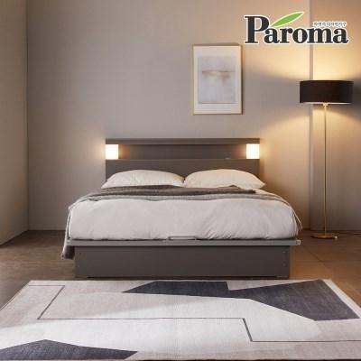 파로마 아우라 LED 평상형 수납침대+협탁1개 Q 6회전본넬매트
