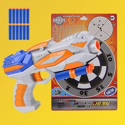 어린이 사격놀이 너프건 다트총 장난감총 표적판 세트