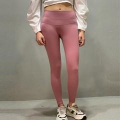 여성 휘트니스 베이직 레깅스 핑크