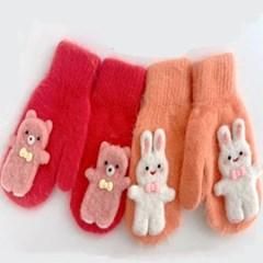 양모 앙고라 오렌지 핑크 데일리 학생 패션 장갑