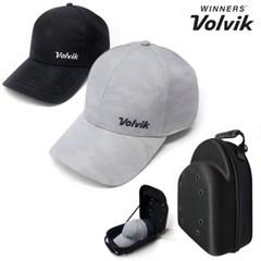 (Set) 볼빅 골프모자+모자캐리어 밀리터리 볼캡 모자보관함 하드케이