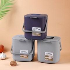 인블룸 미니 사각 음식물 쓰레기통 5L_(3068703)