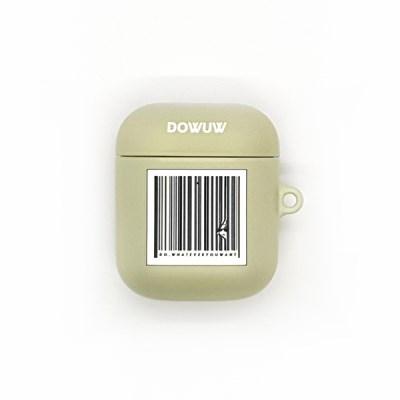 Barcode Airpod Hard case _khaki (에어팟케이스)