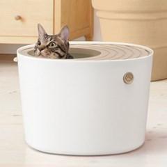 아이리스 프리미엄 중형 고양이 화장실 PUNT-430_(1871504)