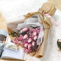 졸업식 입학 기념일 튤립 안개꽃다발 핑크_(2239235)