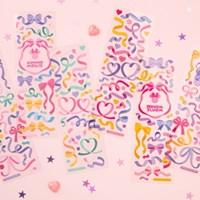 [디즈니] 컨페티 홀로그램 씰스티커 6종 세트
