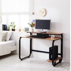 홈피스 보급형 재택근무용 모니터받침대책상 철제책상_(3245011)