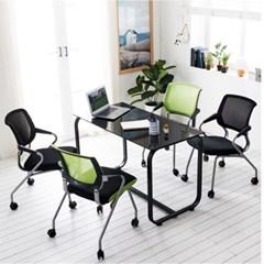 사무실테이블 유리테이블 회의용테이블 홈피스 테이블_(3245008)