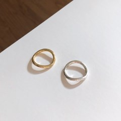 [92.5 silver & 14k gold plated] Wave ring (2 colors)