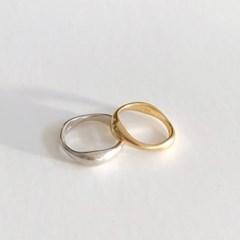 [92.5 silver] Matt wave ring (2 colors)