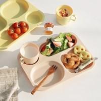 나나 식판+컵 세트 어린이식판 나눔접시 브런치접시_(1773298)