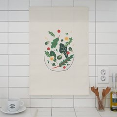샐러드 일러스트 패브릭 포스터 / 가리개 커튼