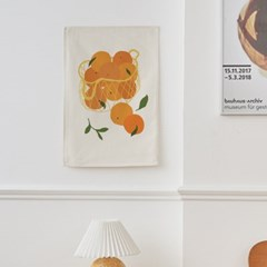 과일바구니 일러스트 패브릭 포스터 / 가리개 커튼