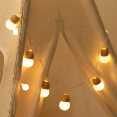 LED 도토리 전구 10구 건전지형