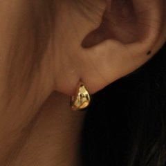 [Silver925] LU107 Bold water drop earrings