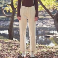 basic napping cotton pants - white