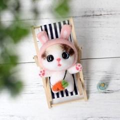 펫돌 양모펠트 DIY KIT 토끼 고양이 냥이 니들펠트 패키지 세트