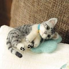 펫돌 하마나카 양모펠트 DIY키트 사바토라 고양이 441-365