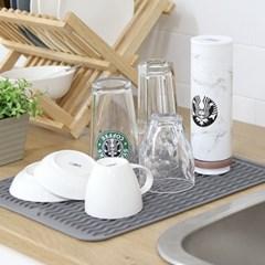 주방싱크대 컵 식기건조 실리콘 냄비받침 트레이 KT40_(1295232)