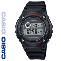 CASIO 카시오 W-216H-1A 우레탄밴드 디지털 빈티지 전자