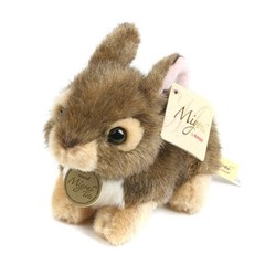 MIYONI 미요니 아기토끼 인형-브라운(18cm)