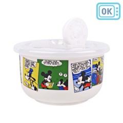 디즈니 미키마우스 코믹 에어밸브 도기 보관용기 200ml