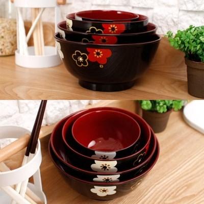 (일) 하코야 매화꽃 그릇 블랙
