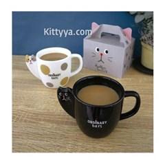 데꼴 횻코리 고양이 머그 (2design)