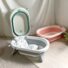 라비베베 신생아 3단계 접이식 아기욕조(쿠션포함)