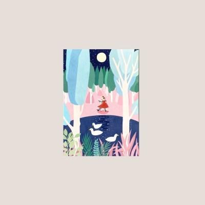 엽서_밤에 댄스 Postcard_Dancing in the moon