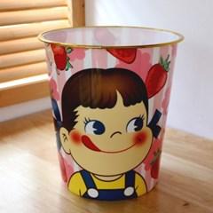 페코짱 원형 휴지통 (딸기)