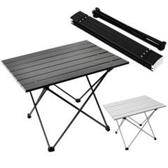 휴대용 접이식 알루미늄 폴딩 롤 테이블 캠핑선반 560*400 중형