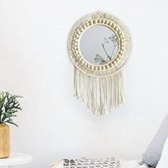 마크라메 거실 침실 인테리어 벽걸이 거울 벽장식소품