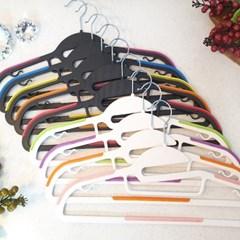 슬림형 디자인 미끄럼방지 옷걸이 10개 세트