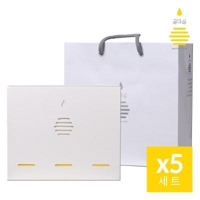 [꿀마실] 천연벌꿀 스틱 3종 선물세트 20gx45포x5세트 + 쇼핑백