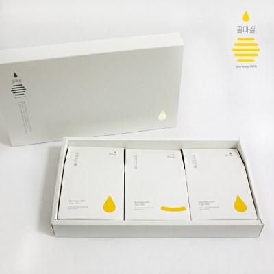 [꿀마실] 천연벌꿀 스틱 3종 선물세트 12gx30포x3세트 + 쇼핑백