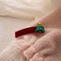 크리스마스 트리 머리핀