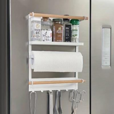 화이트 와이어 냉장고 자석 수납정리대
