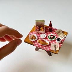 치킨 세트 미니어처 음식 만들기 DIY 풀키트 미니셰프 컬렉션