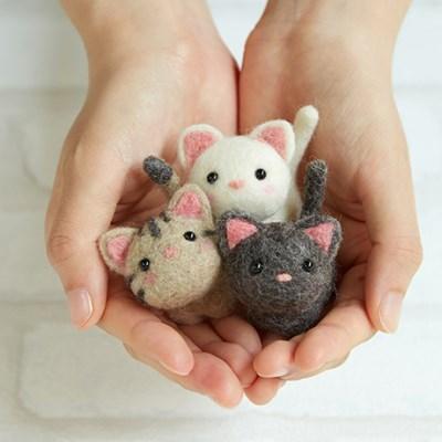 하마나카 양모펠트 DIY키트 작은 고양이 친구들 441-483