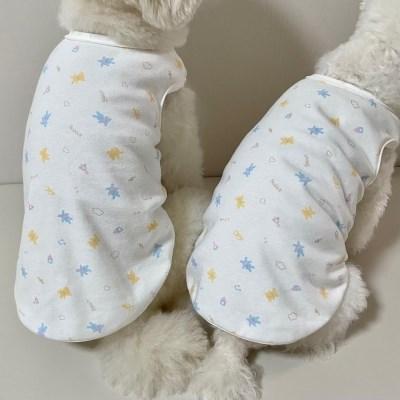러블리댕댕 강아지티셔츠 토끼와 곰돌이 오가닉 실내복